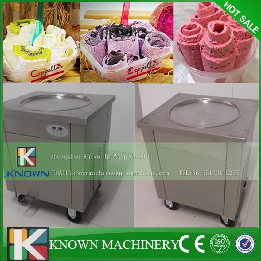 0.9KW Import compressor big pan 45cm thailand ice cream roll machine,fry ice cream machine0.9KW Import compressor big pan 45cm thailand ice cream roll machine,fry ice cream machine
