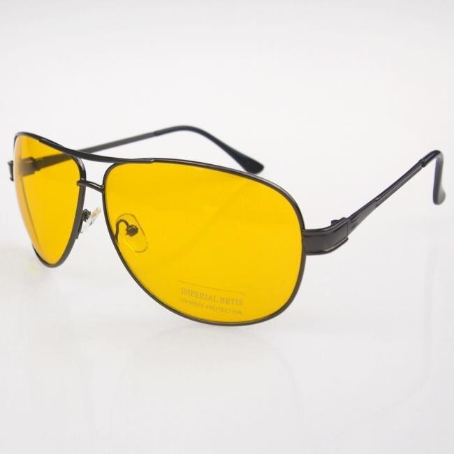 Night Vision Goggles Anti Glare Vision Prevention Black Frame Yellow Sunglasses