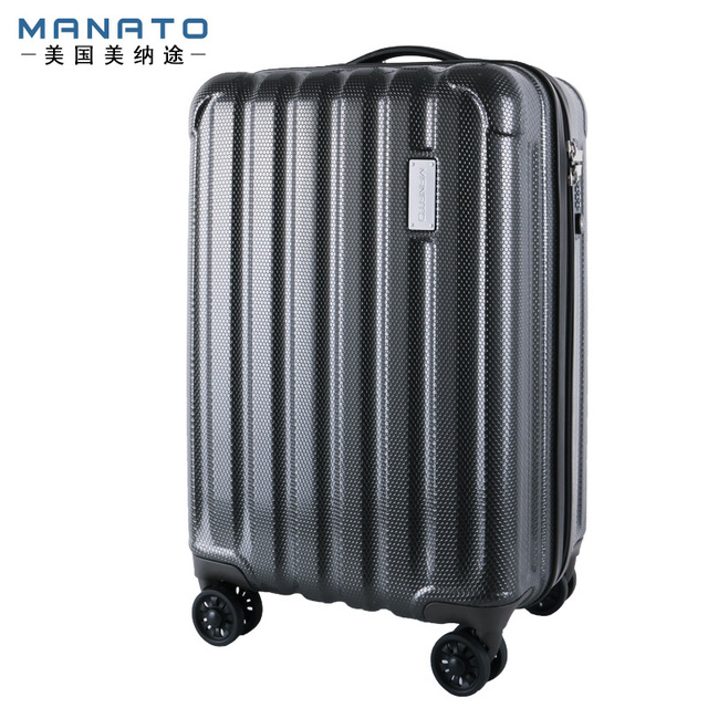 Manato 24 Inch Unisex ABS Luggages Anti Scratch PC Suitcase Trolley Suitcase Caster Lockbox Male Female Hard Case Luggage