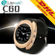 2016 CuterWatch Android Smart Watch Touch Screen font b SmartWatch b font C60 Camera Smart Watches