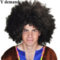 Men Afro Fans Wigs Bulkness Christmas Halloween Carnival Party Short Curly Cosplay Wig Free shipping