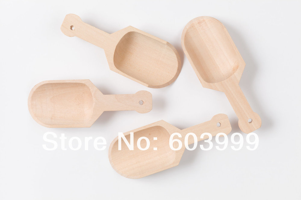 280 3 Inch Wood Candy Sprinkle Buffet Party Scoops Tablespoon Bath