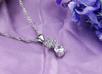 опк ювелирный бесплатная доставка белое золото с GP 925 серебряный кулон кристалл кулон лучшее качество польский любовь ангел кулон кристалл 082