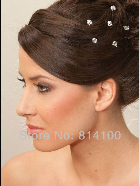 Brand New Whole 2017 Arrived Bling Crystal Diamond Hair Pins Party Bride Bridesmaid