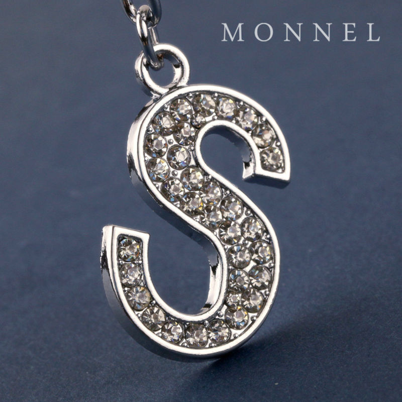 Z302b Fashion Design Clear Rhinestones Crystal Letter S Metal Keychain In Key Chains From Jewelry Accessories On Aliexpress