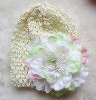 бесплатная доставка в розницу вязание детские шляпа, хлопок шапки, высокое качество куфи шляпы, куфи шляпы ребенка с дейзи цветок шляпа