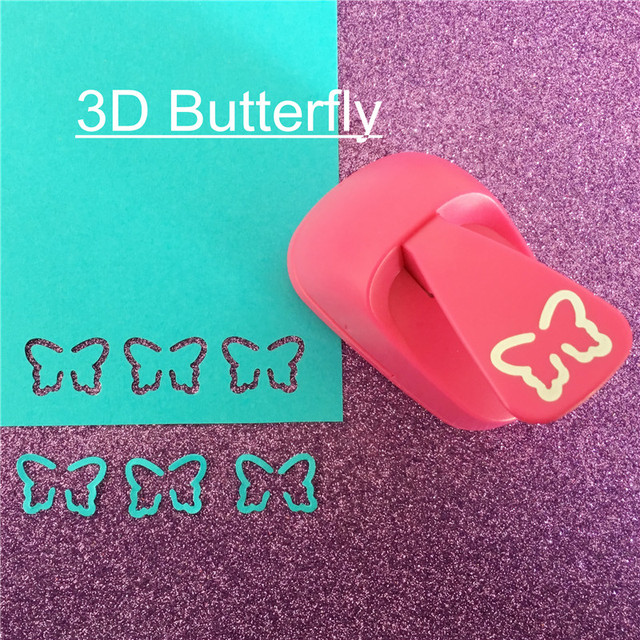 Free Ship stereo 3D butterfly shaped save power paper/eva foam craft punch Scrapbook Handmade punchers DIY hole punches puncher