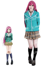 Anime New Hot Rosario Vampire Moka Akashiya Cosplay Costume Halloween Party Dress Clothing