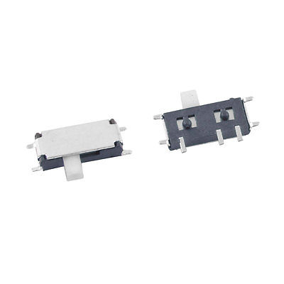 50 PCS DC 50V 0.3A 7 Pin On-On 2 Position 1P2T SPDT SMD Slide Switch Side Knob mini micro slide switch on off 2 position 1p2t spdt miniature horizontal slide switch smd 7 pin dsc0011