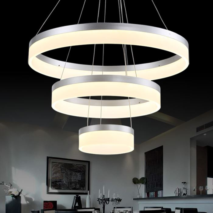 Luxury Modern Chandelier Led Circle Ring Chandelier Light: Luxury Modern LED Pendant Chandelier Circle Pendant