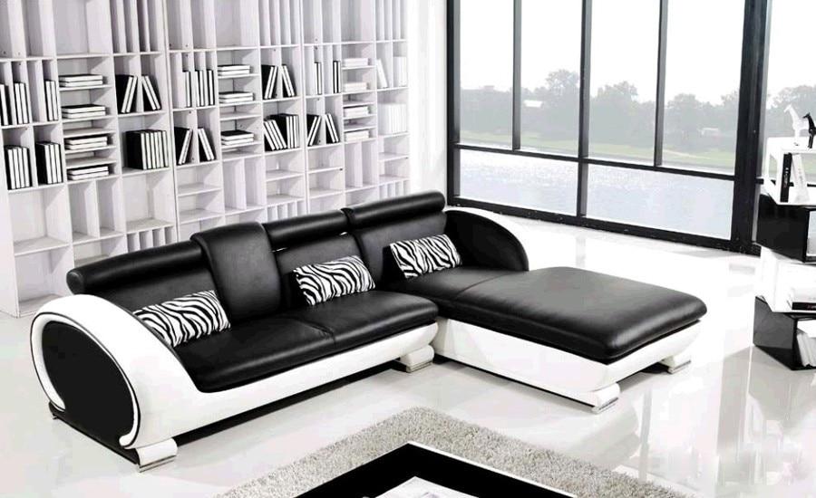 Modern Sofa Design Small L Shaped Sofa Set Settee corner Leather