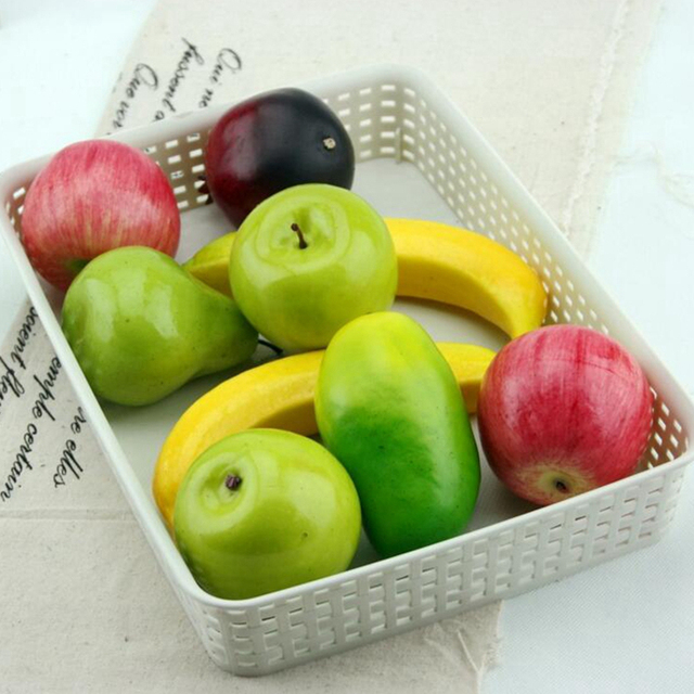 5pcs fake green mini apples plastic artificial fruit house party