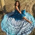 Toalla Toalla de Playa de Bohemia Ronda Mandala Meditación Cuadrado Rectángulo Hippie Mandala Tapiz Colgante de Pared de 150 cm de la venta caliente Del Pavo Real