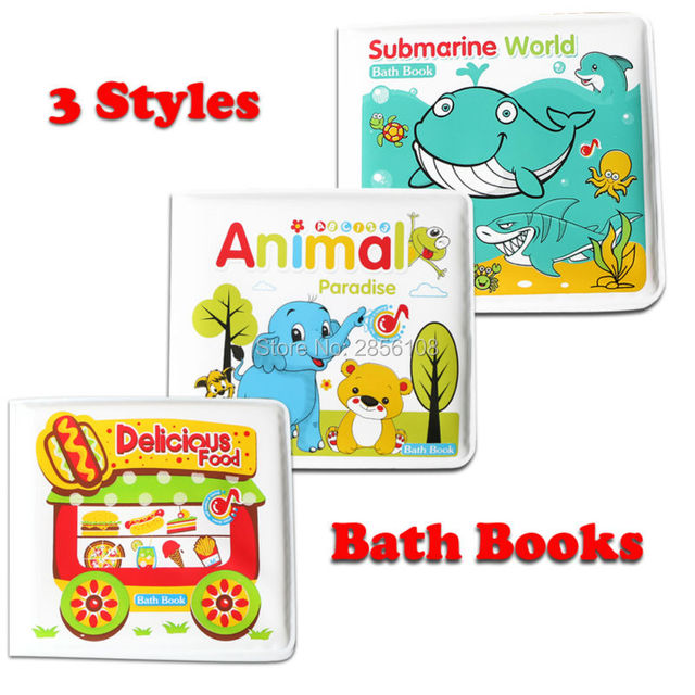 Baby water Bath Toys Books, Swimming Bathroom Toy Kids Early ...