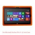 """MingShore Surface Pro 3 12 """"Cubierta de La Tableta, resistente a prueba de golpes antideslizante fda de silicona tablet case para surface pro 3 12"""" tablet pc"""
