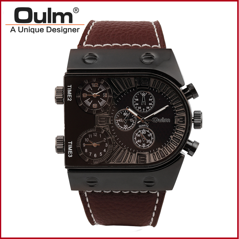 design fashion watch, square men watch hot sale, oulm promotion watches