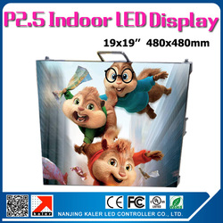 TEEHO 6pcs a lot p2.5 indoor die-cast aluminum rental led display 0.48x0.48m rental led cabinet led screen with TS802D sender