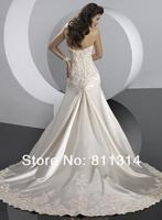 милая свадебное платье атласная свадебное платье размер пользовательские сделал новую
