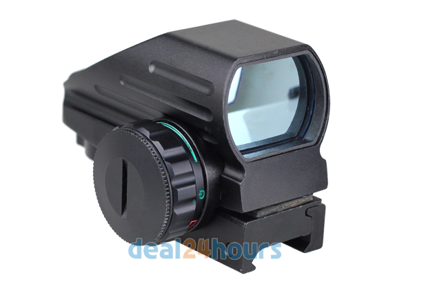 Tactical Reflex Red/Green Laser 4 Reticle Holographic Projected Dot Sight Scope Airgun Rifle sight Hunting Rail Mount 20mm 4