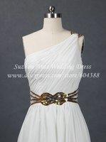 бесплатная доставка реального образца одно плечо Blast платье белый знаменитости вечерние платья ae224