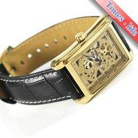 мужская автоматические часы площадь золотой металлический Cars Mechanic кожа подарок iw448