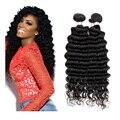 3 pacotes de onda profunda do cabelo humano trama extensão do cabelo não processado Brasileiro virgem da onda do cabelo