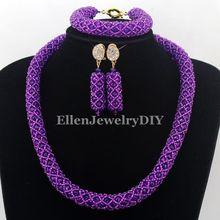 Нигерийские Свадебные бусы ожерелье из африканского бисера Ювелирные наборы Индия Дубай Свадебные Ювелирные наборы W12749