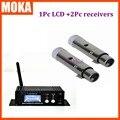 3 Pcs/lot équipement professionnel DMX 512 2 mini récepteur XLR + 1 récepteur/transmetteur sans fil à affichage lcd pour éclairage de scène|dmx 512|mini dmx|wireless dmx 512 -