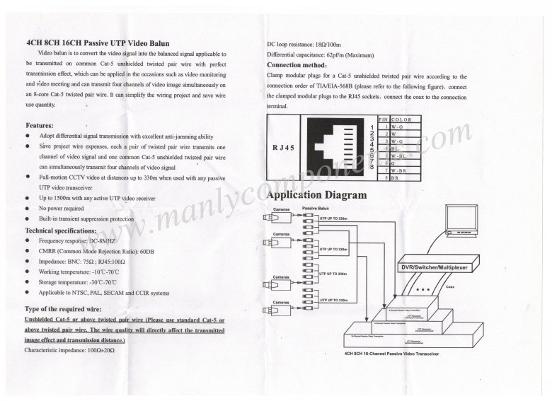 2pcs Cctv 4 Channel Passive Video Balun Transmitter 4ch Utp Video Balun Bnc To Utp Rj45 Camera Dvr Dvr Remote Dvr Pcrj45 Tablet Aliexpress