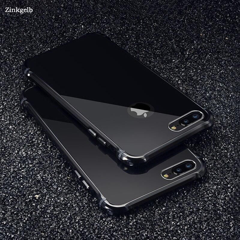 Untuk Apple iPhone 7 Kasus Merek Mewah Keras Glitter Logam Aluminium - Aksesori dan suku cadang ponsel - Foto 1