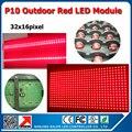 Бесплатная доставка 320 x 160 мм 32 x 16 пикселей P10 открытый красный из светодиодов модуль для наружной красный цвет из светодиодов знак рекламный щит