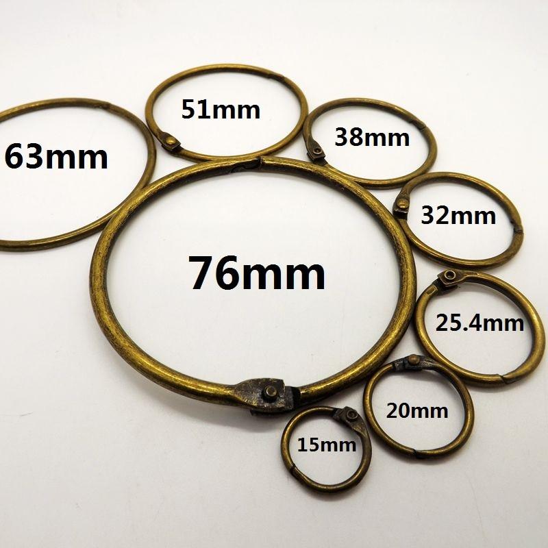 High Quality Low Price Iron Nickel Plated Metal Book Binder Rings