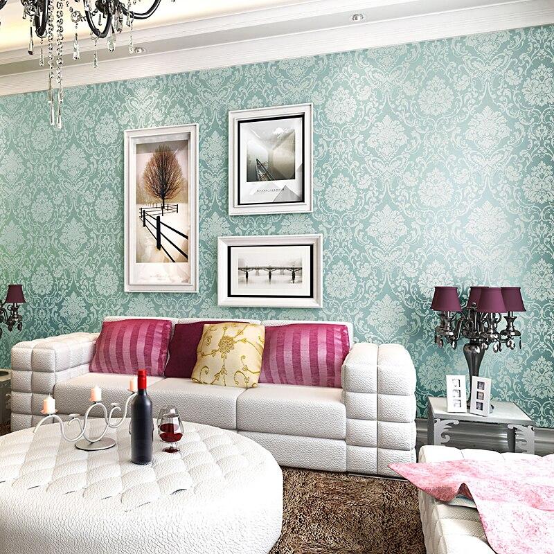 Vintage classique Beige moderne damassé caractéristique Non-tissé papier peint rouleau de papier peint pour salon chambre TV toile de fond