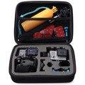 Tamaño mediano nuevo viaje bolsa de recogida de almacenamiento para accesorios de la cámara gopro hero 3 3 + acción envío rápido