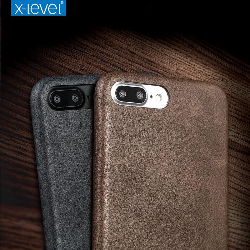 X-Level für iPhone 7 Hülle Zubehör Luxusmarke Retro Leder TPU - Handy-Zubehör und Ersatzteile - Foto 3
