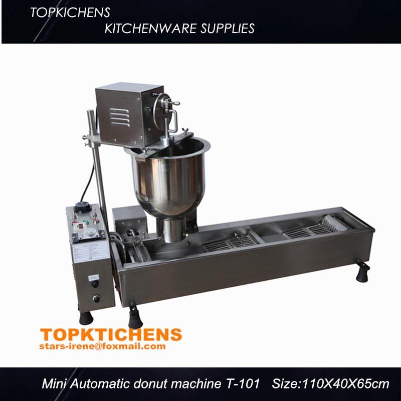 Commerical Mini Automatic donut machine_Donut maker_Donut making machine T-101 productivity 850 1200pcs hours three sizes industrial automatic donut making machines