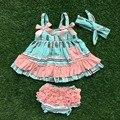 Девочек детская одежда детская раффлед качели лучших промах устанавливает младенческой малыша девушки outffits стрелка качели с повязка на голову