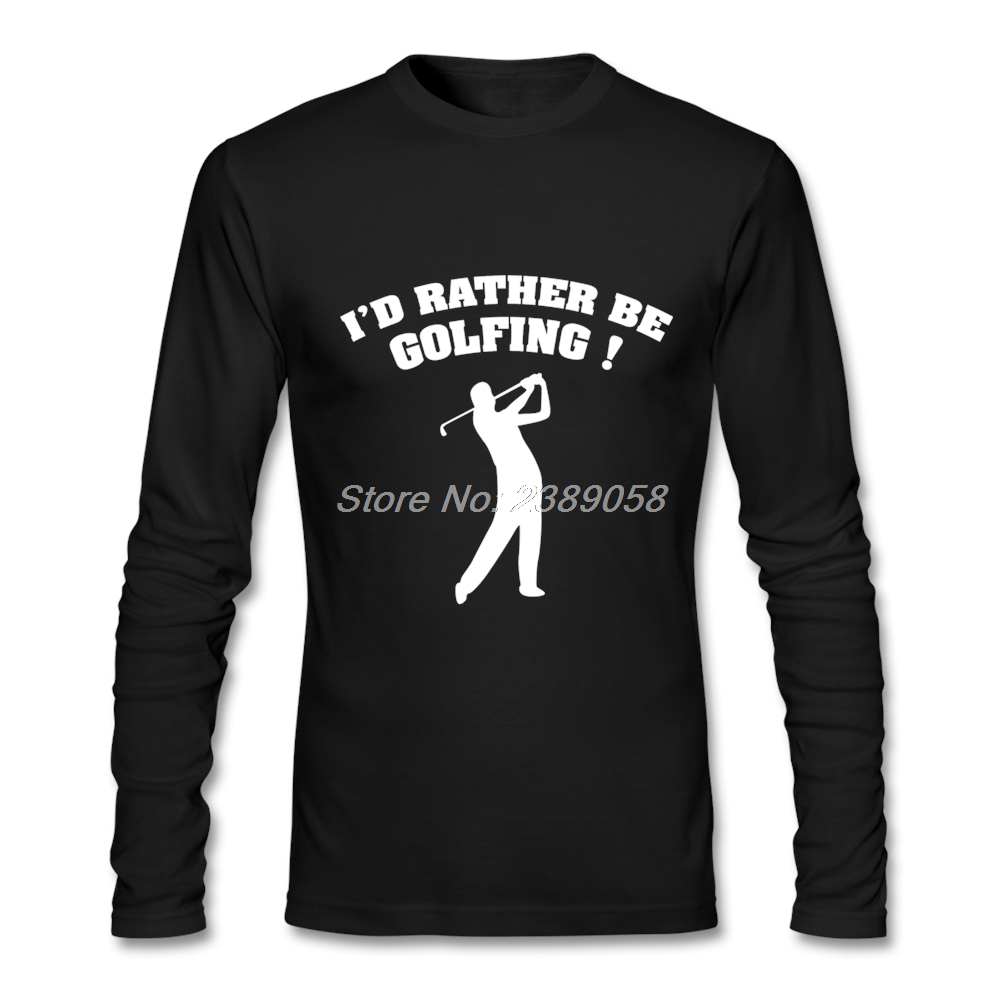 Shirt design with collar - New Design Men S Tshirt Play Golfing Simple Style Long Sleeve Round Collar Tee Cotton Cheap Wholesale