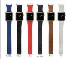 Новый цвет темно-серый кожи контура часы группа ремешок для Apple , часы магнитного пряжки 38 мм 42 мм