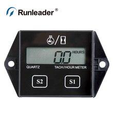 Runleader RL-HM011A цифровой счетчик часов Тахометр для снегохода трактор водные лыжи катер парамотор планер морской генератор
