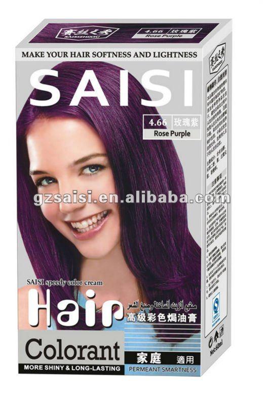 SAISI FamilyUse Colour Cream Golden Brown Red Purple Color Dye Cream Natural Permanent Hair Dye With Peroxide Fashion Hair Color