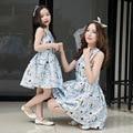 2017 мать дочь платья бренда девушки платье принцессы мама и дочь платье семья соответствия мать дочь одежда
