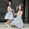 2017 mother daughter dresses brand girls princess dress mom and daughter dress family matching mother daughter clothes