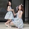 2017 vestidos de princesa muchachas de la marca vestido de madre e hija madre e hija vestido a juego de la familia de madre e hija ropa