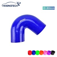 "HOSINGTECH  high quality 80mm(3.125"") blue 135 degree elbow silicone turbo hose