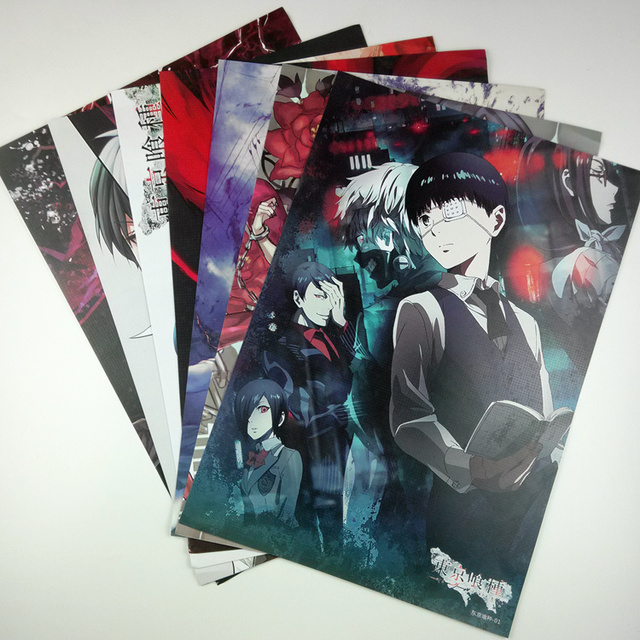 8*(42x29cm)Tokyo Ghoul Anime around poster Wall decoration Wall Sticker birthday gift