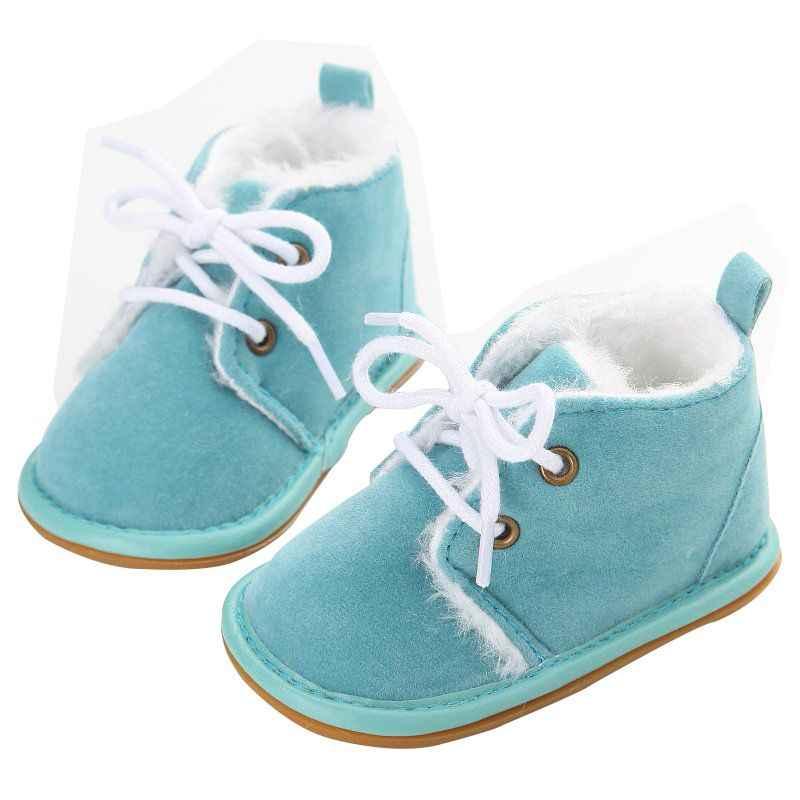 15410c71c ... Для новорожденных мальчиков и девочек обувь на шнуровке Фрист ходунки  детские осенние ребенка теплые зимние ботинки