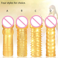 High Quality Adult Sex Products 4pcs/ lot Gold Cock Rings Reusable Condom Sexy Toys Penis Sleeves Penis Extension Cock Rings