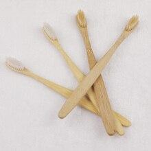 2 unids/lote naturaleza madera ambientalmente suerte de bambú del cepillo de dientes cepillo de dientes de cerdas suaves de bambú vendedor caliente tacto suave