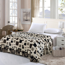 2016 Super Soft and warm coral fleece velvet blanket bed sheet Plaid blanket throw bedding blanket twin 6 Colors Available